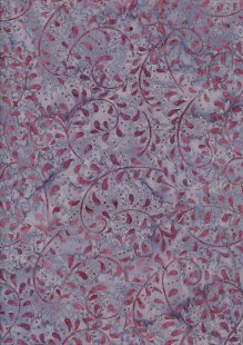 Doughty's Exclusive Bali Batik - Vines Pink On Purple