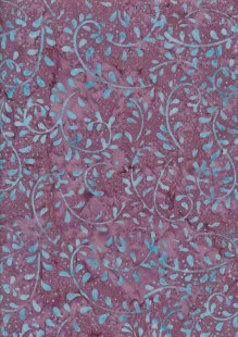 Doughty's Exclusive Bali Batik - Vines Blue On Purple