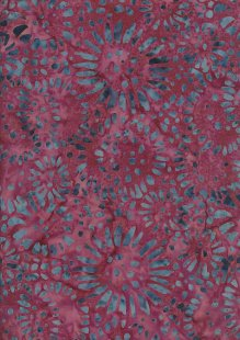 Doughty's Exclusive Bali Batik - SunFlowerss Blue On Pink