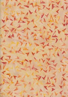 Doughty's Exclusive Bali Batik - Kites Orange On Yellow