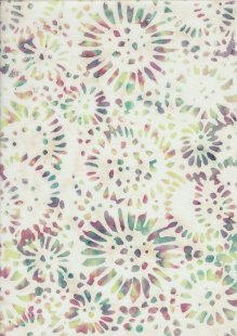 Doughty's Exclusive Bali Batik - SunFlowerss Multi On Yellow