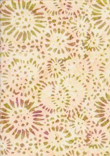 Doughty's Exclusive Bali Batik - SunFlowerss Green On Yellow