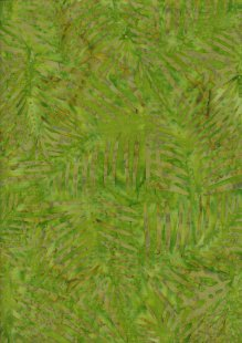 Doughty's Exclusive Bali Batik - Palm Leaves Yellow And Green