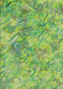 Doughty's Exclusive Bali Batik - Cracked Ice Yellow And Green