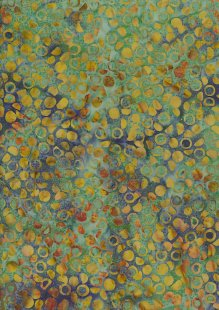 Doughty's Exclusive Bali Batik - Pods Yellow On Green