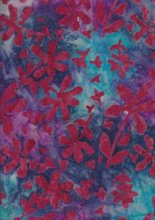 Doughty's Exclusive Bali Batik - Pressed Flowers Pink On Multi