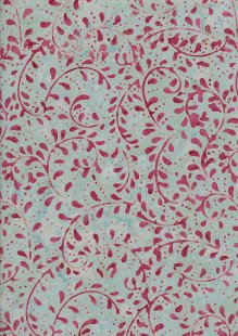 Doughty's Exclusive Bali Batik - Vines Pink On Grey