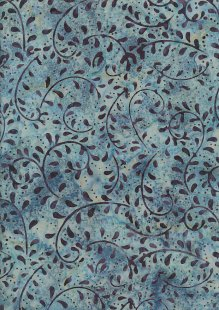 Doughty's Exclusive Bali Batik - Vines Blue On Blue