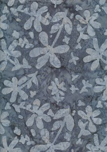 Doughty's Exclusive Bali Batik - Pressed Flowers Grey On Grey