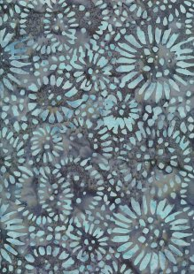 Doughty's Exclusive Bali Batik - SunFlowerss Blue On Grey