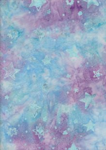Doughty's Exclusive Bali Batik - Stars Blue & Pink
