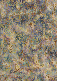 Doughty's Exclusive Bali Batik - Scattered Seed Yellow On Blue