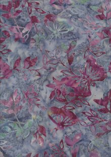Doughty's Exclusive Bali Batik - Butterflies Pink On Blue