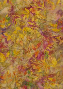 Doughty's Exclusive Bali Batik - Butterflies Yellow & Pink