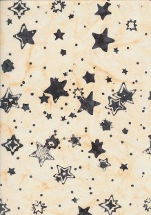 Doughty's Exclusive Bali Batik - Stars Grey On Yellow