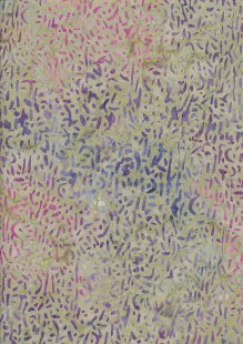 Doughty's Exclusive Bali Batik - Scattered Seed Purple On Green