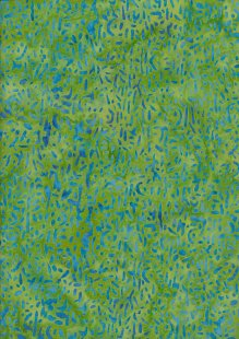 Doughty's Exclusive Bali Batik - Scattered Seed Blue On Green