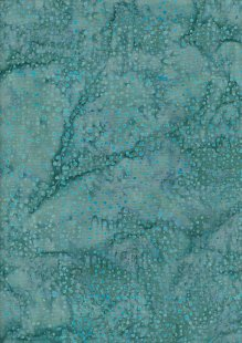 Doughty's Exclusive Bali Batik - Raindrops Turquoise On Green