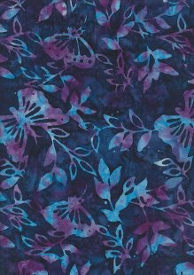 Doughty's Exclusive Bali Batik - Butterflies Purple On Blue