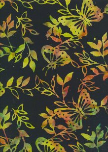 Doughty's Exclusive Bali Batik - Butterflies Yellon On Black