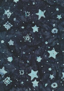 Doughty's Exclusive Bali Batik - Stars Turquoise On Blue