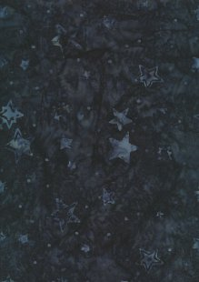 Doughty's Exclusive Bali Batik - Stars Dark Blue