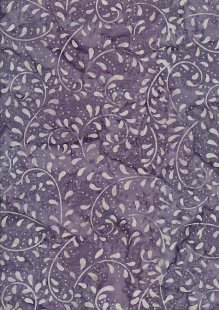 Doughty's Exclusive Bali Batik - Vines Dark Purple