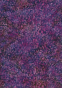 Doughty's Exclusive Bali Batik - Scattered Seed Purple