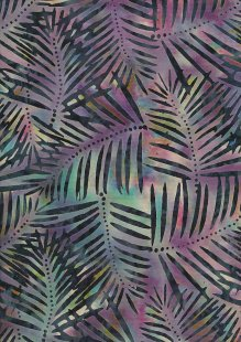 Doughty's Exclusive Bali Batik - Banana Leaf Purple & Turquoise