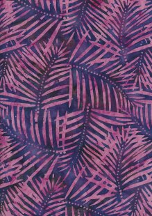 Doughty's Exclusive Bali Batik - Banana Leaf Purple & Pink