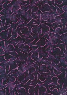 Doughty's Exclusive Bali Batik - Boomerangs Purple & Pink