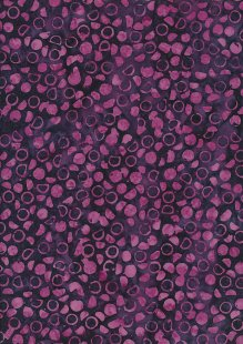 Doughty's Exclusive Bali Batik - Scattered Stones Purple & Pink