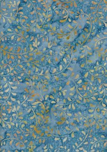 Doughty's Exclusive Bali Batik - Vines Light Blue