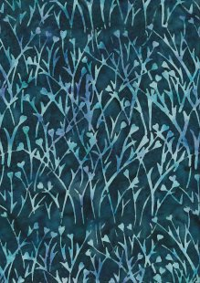 Doughty's Exclusive Bali Batik - Sprig Dark Blue