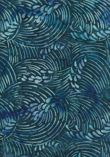 Doughty's Exclusive Bali Batik - Whirlpools Dark Blue