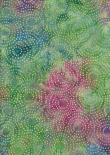 Doughty's Exclusive Bali Batik - Aboriginal Dot Green, Blue & Purple