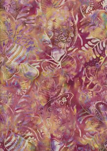Doughty's Exclusive Bali Batik - Pressed Leaves Pink