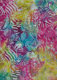 Doughty's Exclusive Bali Batik - Pressed Leaves Multi