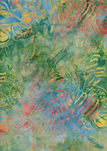 Doughty's Exclusive Bali Batik - Pressed Leaves Green