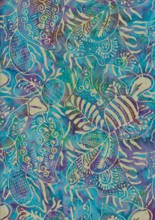 Doughty's Exclusive Bali Batik - Pressed Leaves Turquoise