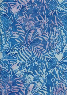 Doughty's Exclusive Bali Batik - Pressed Leaves Blue