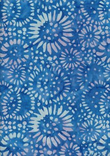 Doughty's Exclusive Bali Batik - Sunflowers Blue