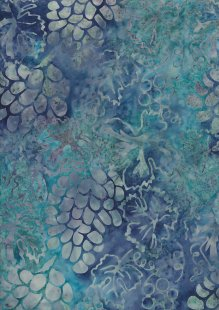 Doughty's Exclusive Bali Batik - Pine Cones Blue
