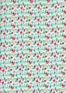 Craft Cotton Co Christmas - Multi Trees White