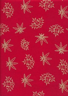 "Gilded Christmas 60"" Wide - Red Holly"