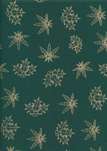 "Gilded Christmas 60"" Wide - Green Holly"
