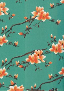 Lady McElroy Cotton Twill - Flora Songbird 423