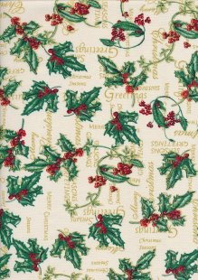 Christmas - Guilded Holly On Cream