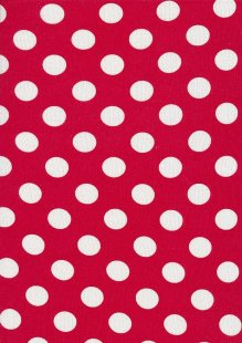 Lady McElroy Viscose Spandex Jersey - White Spot On Red