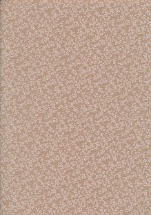 Poly Cotton Print - Ditsy Floral Beige